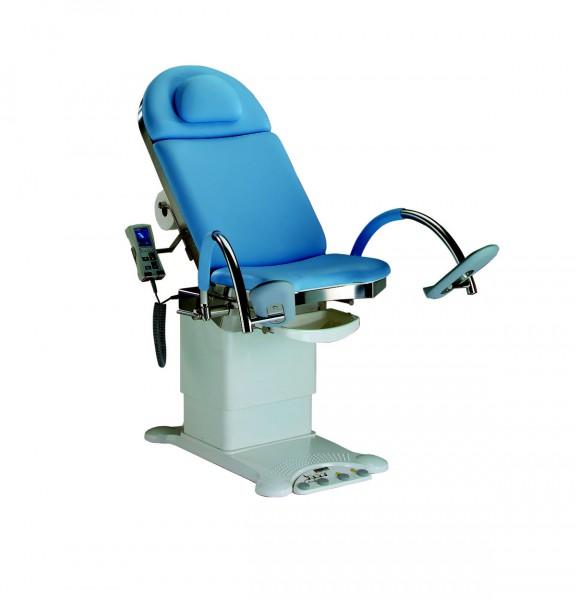 Unters.- und Behandlungsstuhl mit elektrischer Höhen-, Bein- Rücken und Beckenverstellung u. Memory-Funktion Stellfläche: 860 x 550 mm stone