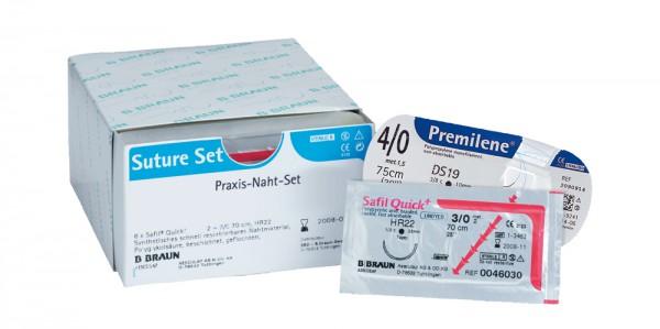 Praxis-Naht-Set Premilene® / Safil® Quick+ je 6 Nadel-Faden-Kombinationen pro Sorte
