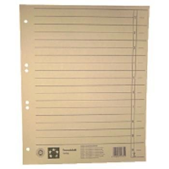 Trennblätter mit abschneidbaren Taben A4 - 235 x 300 mm, chamois.