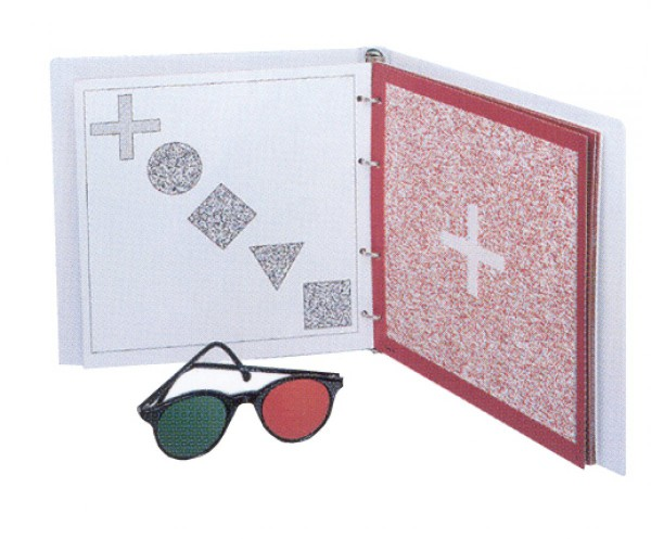 TNO-Stereotest inkl. Rot/Grün-Brille