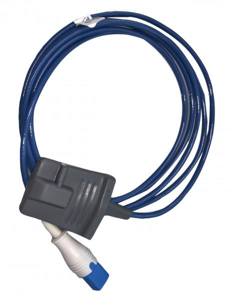 Fingersensor Gummi SpO2 8-pin-Stecker für Philips/HP 200 cm lang