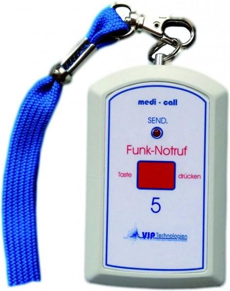 Funksender Umhängesender WSN zu medi-call Rufanlagen Compact u. Standard 90 x 57 x 20 mm.