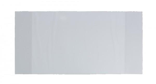 Karteihüllen ALPHAnorm A5 farblose Klarsichtfolie mit 2 aufgeschweißten Taschen DIN A5 - quer - aufgeklappt: 450 x 213 mm.