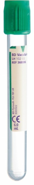 BD Lithium Heparin 6 ml (Plast)