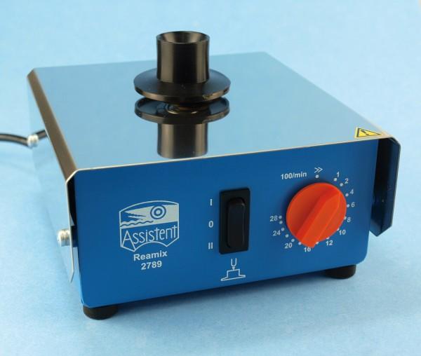 Reamix-Reagenzglasschüttler mit Doppelfunktion kleine, platzsparende Ausführung L x B x H: 110 x 100 x 90 mm