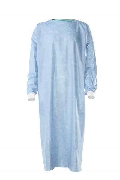 Einmal-OP-Bindemantel Foliodress® gown Protect NEU Basic, steril, einzeln verpackt, mit Bändern verschließbar Gr. XL - 140 cm.
