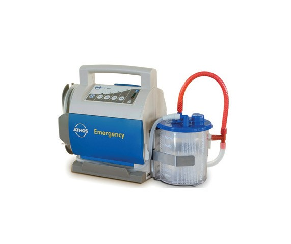 Notfallsauger ATMOS® E 341 Battery/Medi-Vac® Einwegbehältersystem 1 Liter