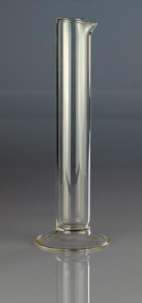 Messzylinder Glas mit Fuß und Ausguss für vorstehende Urinprober 175 x 28 mm.