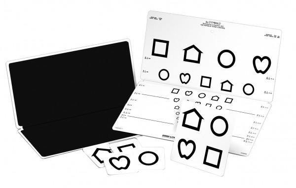 Sehtest - Ferne LEA™ - Symbole Visus: 0.125 bis 1.25 (3 m) 40,6 x 40,6 cm