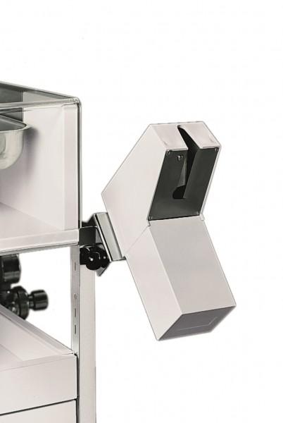 Ampullenöffner CUPFIX mit Auffangbehälter B x T x H: 70 x 150 x 200 mm grauweiß (Kunststoff).